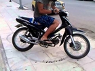 funny accident honda supra 2012
