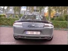 Aston Martin Rapide: Interior view, start up & revving!