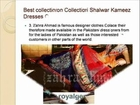 Pakistani fashion collection clotheing shalwar kameez online by Zahra Ahmad